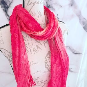 Coral Women's Scarf Animal Print